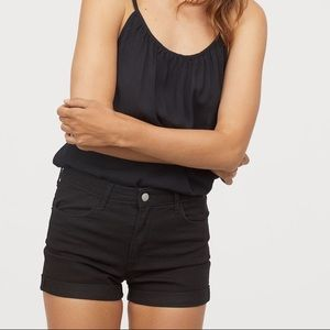 H&M Plain Black Denim Shorts